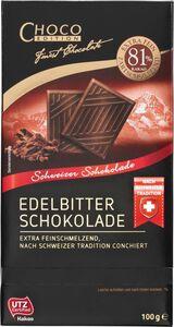 Choco Edition Edelbitter Schokolade 81%, 100g