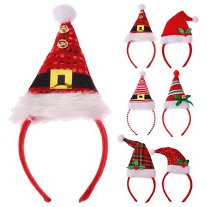 Weihnachtshaarreifen - rot - sortiert