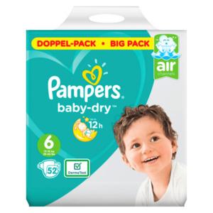 Pampers Baby-dry 12 hours Größe 6, 52 Stück