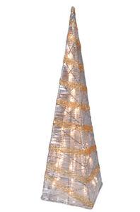 Näve Funkelnde Pyramide mit 35 Lichtern, gold, h: 59 cm