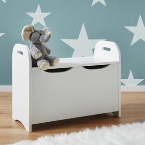 Kindersitzbank in Weiß mit Stauraum 'Lara'