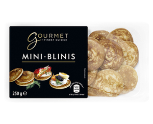 GOURMET Mini-Blinis