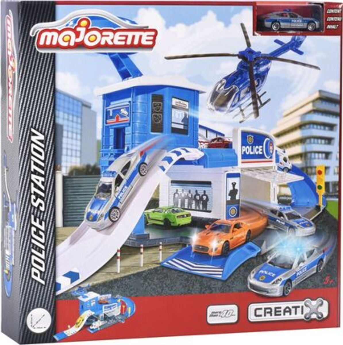 Bild 1 von Dickie Toys Creatix Polizei Station + 1 Car