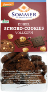 SOMMER Kekse, Dinkel Vollkorn Schoko Cookies mit Haselnüssen
