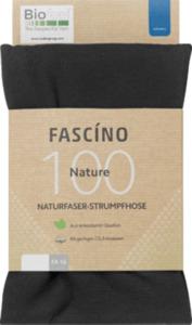 FASCÍNO Strumpfhose Nature, 100 den, schwarz, Gr. 46-48