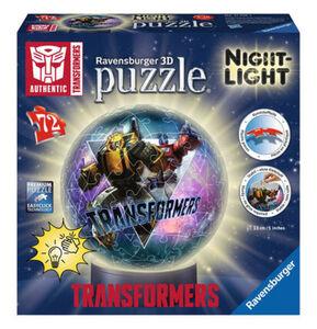 Ravensburger 3D-Puzzleball Nachtlicht - Transformers, 72 Teile