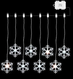 AMARE Lichterkette LED Acrylvorhang, Schneeflocke: kaltweiße LEDs, 84 cm, Kunststoff,