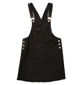 Jette Mädchen Latzrock, schwarz, 152, 152