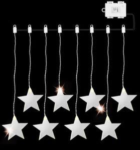 AMARE Lichterkette LED Acrylvorhang, Stern: kaltweiße LEDs, 84 cm, Kunststoff, Kupfer