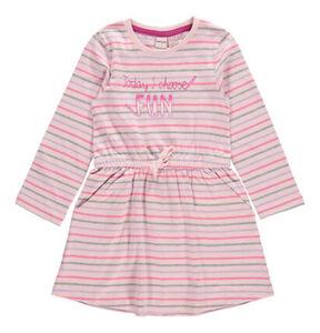 manguun Tageskleid, Baumwolle, gestreift, Print, tailliert, Taschen, für Mädchen