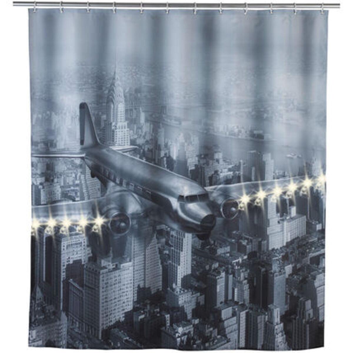 """Bild 1 von WENKO LED Duschvorhang """"Old Plane"""""""