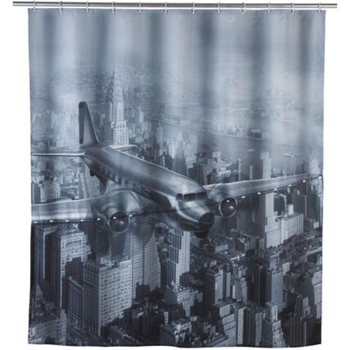 """Bild 2 von WENKO LED Duschvorhang """"Old Plane"""""""