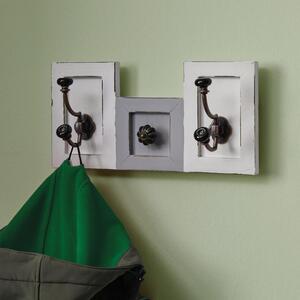 Garderobenpaneel Grau/Weiß 'Ivy'