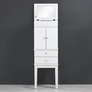 Schmuckschrank in Weiß mit Spiegel 'Jewel'