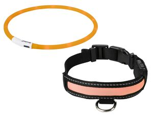 ZOOFARI® LED Hundehalsband, mit 3 Leuchtfunktionen, inklusive USB-Kabel
