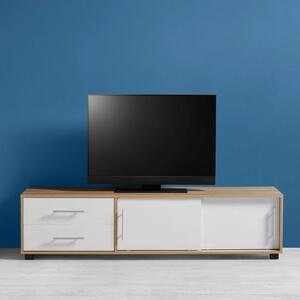 TV-Element in Eichefarben/Weiß 'Lilja'