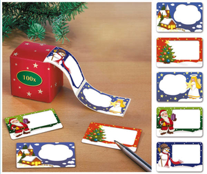 Weihnachtsetiketten inklusive Dispenser Westfalia