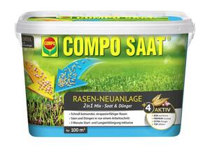 Rasen Neuanlage Mix Samen & Dünger 2200 g Compo