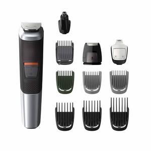 11 in 1 Haar- und Bartschneider, Multigroom Series 5000 MG5735/15, Schwarz/ Silberfarben Philips