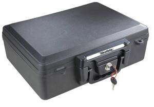 Dokumentenbox zur sicheren Aufbewahrung von Dokumenten, feuerfest BlackGuard
