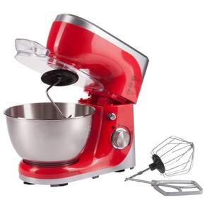 Küchenmaschine, Rühr- und Knetmaschine, Edelstahl, 4,5 Liter, 800 Watt, Rot