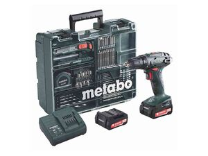 Metabo Metabo Akku-Bohrschrauber-Set BS 14.4 14,4 V 2 Ah 80-tlg.