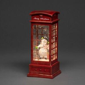 Konstmide LED Telefonzelle Schneemann ,  25 x 10 x 10 cm