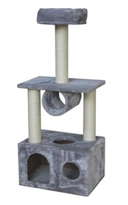 TrendLine Kratzbaum Joschi 50 x 35 x 116 cm grau ,  Maße: 50 x 35 x 116 cm
