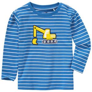Baby Langarmshirt mit Bagger-Applikation