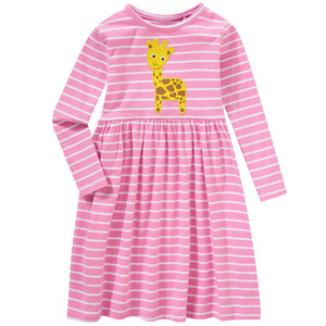 Mädchen Kleid mit Giraffen-Applikation