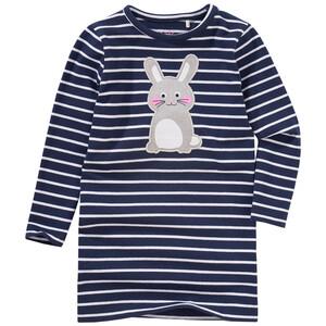 Mädchen Langarmshirt mit Hasen-Applikation