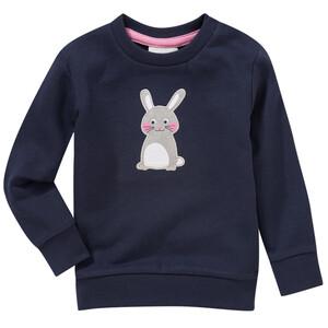 Mädchen Sweatshirt mit Hasen-Applikation