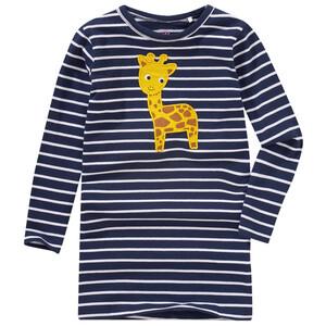 Mädchen Langarmshirt mit Giraffen-Applikation