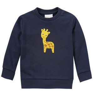 Kinder Sweatshirt mit Giraffen-Applikation