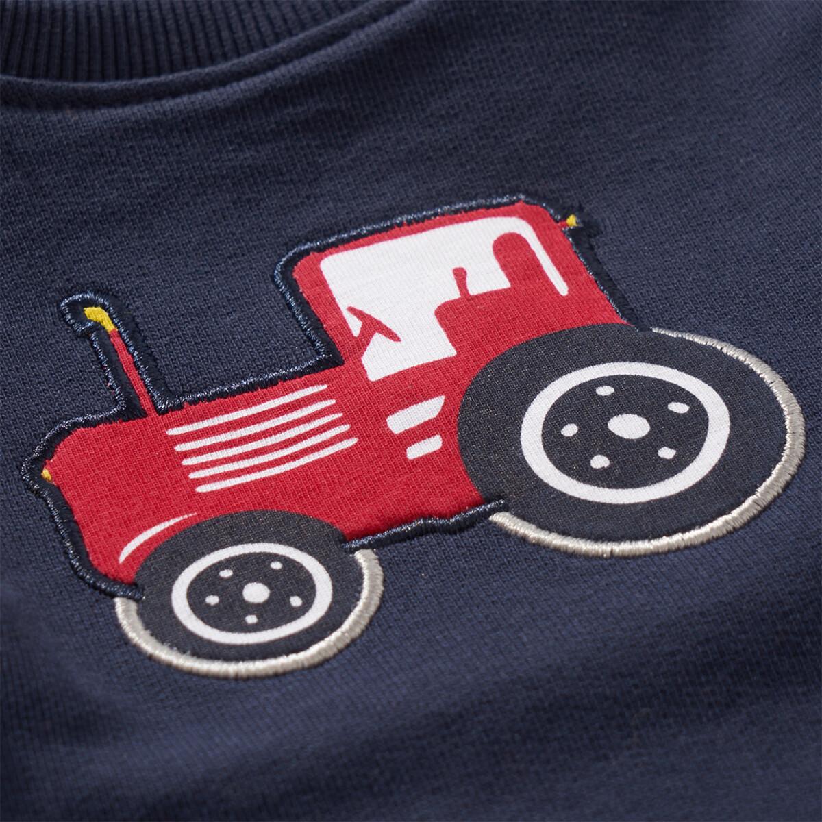 Bild 4 von Jungen Sweatshirt mit Trecker-Applikation
