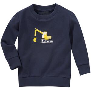 Jungen Sweatshirt mit Bagger-Applikation