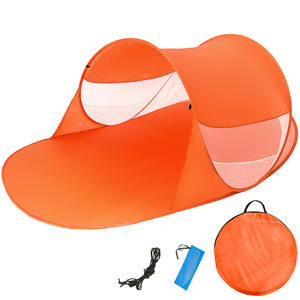 Pop-Up Strandmuschel Angelika orange