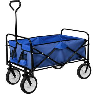 Faltbarer Bollerwagen blau