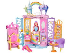 Barbie Dreamtopia Regenbogen-Königreich Schloss und Puppe