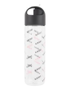 Damen Trinkflasche mit Strohhalm