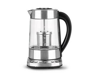 Tee- und Wasserkocher mit 1,7-l-Glaskanne und Teesieb