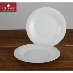 BELLEVUE Frühstücksteller super white 2er-Set Weiß
