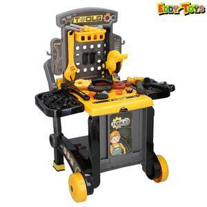 Eddy Toys Kinder-Werkzeugbank 3in1 60-teilig