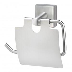 TrendLine Papierrollenhalter Simple Cube ,  Edelstahl gebürstet, mit Deckel