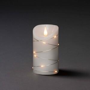 Konstsmide LED Echtwachskerze weiß ,  13,5 x 7,5 cm