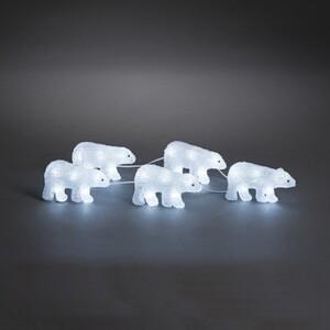 Konstsmide LED Acryl Polarbären ,  5- er Set