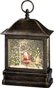 Konstsmide LED Schneelaterne mit Weihnachtsmann ,  8,5 x 17,5 x 25 cm