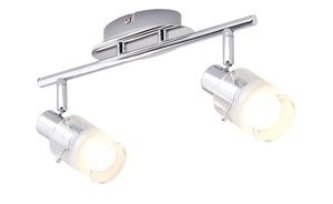 LED-Deckenstrahler, 2-flammig Glas teilsatiniert