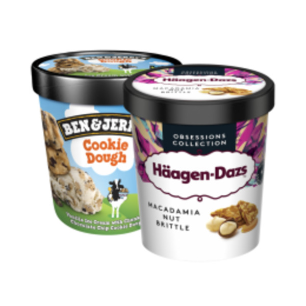 Häagen-Dazs Eis oder Ben & Jerry's Ice Cream