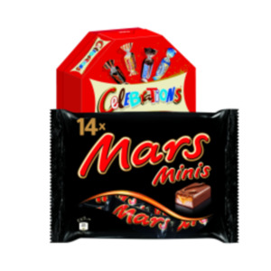 Mars-, Snickers-, Twix-, Milky Way-, Bounty-Minis